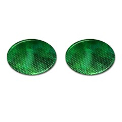 Ombre Green Abstract Forest Cufflinks (oval)