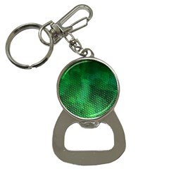 Ombre Green Abstract Forest Bottle Opener Key Chains by DanaeStudio