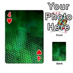 Ombre Green Abstract Forest Playing Cards 54 Designs  Front - Heart4