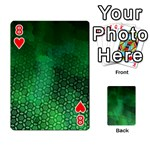 Ombre Green Abstract Forest Playing Cards 54 Designs  Front - Heart8