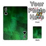 Ombre Green Abstract Forest Playing Cards 54 Designs  Front - Spade6