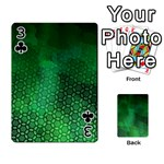 Ombre Green Abstract Forest Playing Cards 54 Designs  Front - Club3