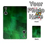 Ombre Green Abstract Forest Playing Cards 54 Designs  Front - Club7