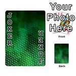 Ombre Green Abstract Forest Playing Cards 54 Designs  Front - Joker1
