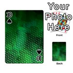 Ombre Green Abstract Forest Playing Cards 54 Designs  Front - Spade10