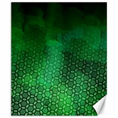 Ombre Green Abstract Forest Canvas 8  X 10  by DanaeStudio