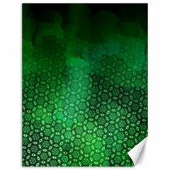 Ombre Green Abstract Forest Canvas 12  X 16   by DanaeStudio