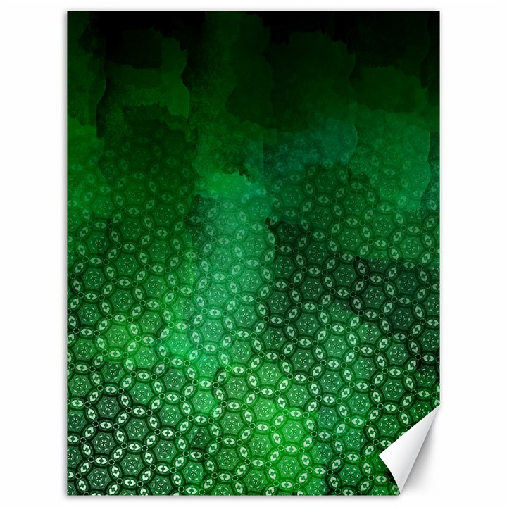 Ombre Green Abstract Forest Canvas 12  x 16