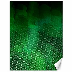 Ombre Green Abstract Forest Canvas 36  X 48   by DanaeStudio