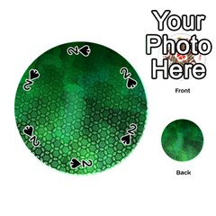 Ombre Green Abstract Forest Playing Cards 54 (round)  by DanaeStudio