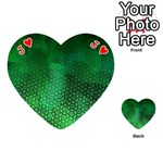 Ombre Green Abstract Forest Playing Cards 54 (Heart)  Front - HeartJ