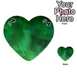 Ombre Green Abstract Forest Playing Cards 54 (Heart)  Front - ClubJ