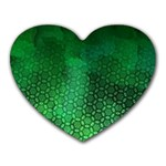 Ombre Green Abstract Forest Heart Mousepads Front