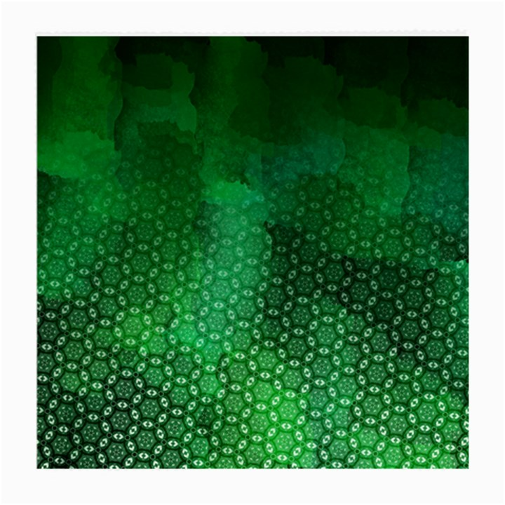 Ombre Green Abstract Forest Medium Glasses Cloth (2-Side)