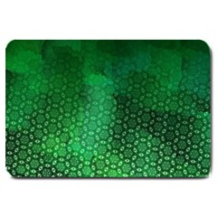 Ombre Green Abstract Forest Large Doormat  by DanaeStudio