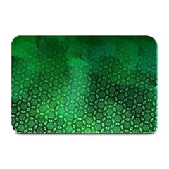 Ombre Green Abstract Forest Plate Mats by DanaeStudio