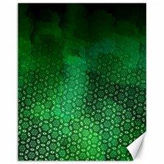 Ombre Green Abstract Forest Canvas 11  X 14   by DanaeStudio