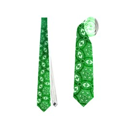 Ombre Green Abstract Forest Neckties (two Side)  by DanaeStudio