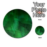 Ombre Green Abstract Forest Multi-purpose Cards (Round)  Back 9