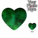 Ombre Green Abstract Forest Multi-purpose Cards (Heart)  Back 1