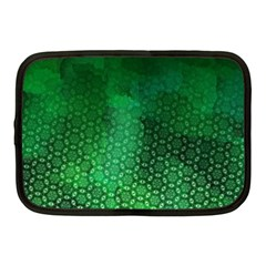 Ombre Green Abstract Forest Netbook Case (medium)  by DanaeStudio