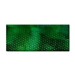 Ombre Green Abstract Forest Hand Towel by DanaeStudio