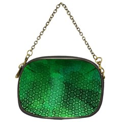 Ombre Green Abstract Forest Chain Purses (one Side)  by DanaeStudio