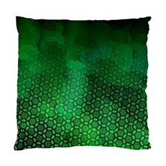 Ombre Green Abstract Forest Standard Cushion Case (two Sides) by DanaeStudio