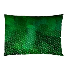 Ombre Green Abstract Forest Pillow Case by DanaeStudio
