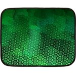Ombre Green Abstract Forest Fleece Blanket (Mini) 35 x27 Blanket