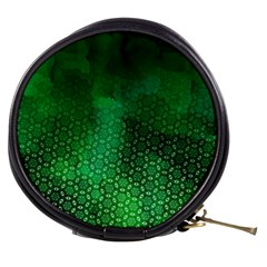 Ombre Green Abstract Forest Mini Makeup Bags