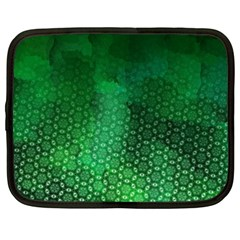 Ombre Green Abstract Forest Netbook Case (xxl)  by DanaeStudio