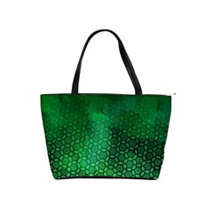 Ombre Green Abstract Forest Shoulder Handbags by DanaeStudio