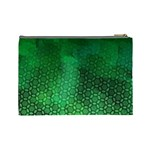 Ombre Green Abstract Forest Cosmetic Bag (Large)  Back