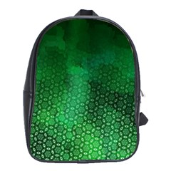Ombre Green Abstract Forest School Bags(large)  by DanaeStudio