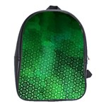 Ombre Green Abstract Forest School Bags(Large)  Front