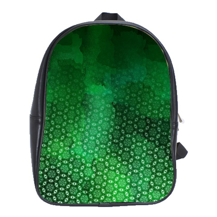 Ombre Green Abstract Forest School Bags(Large)