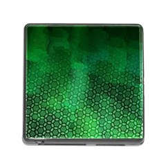 Ombre Green Abstract Forest Memory Card Reader (square) by DanaeStudio