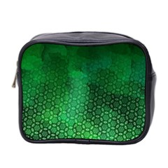 Ombre Green Abstract Forest Mini Toiletries Bag 2 Side by DanaeStudio
