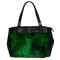 Ombre Green Abstract Forest Office Handbags by DanaeStudio