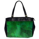 Ombre Green Abstract Forest Office Handbags (2 Sides)  Front