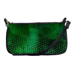 Ombre Green Abstract Forest Shoulder Clutch Bags by DanaeStudio