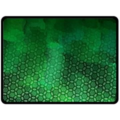 Ombre Green Abstract Forest Fleece Blanket (large)  by DanaeStudio