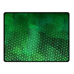 Ombre Green Abstract Forest Fleece Blanket (small) by DanaeStudio