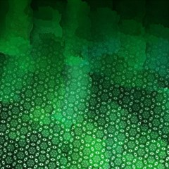 Ombre Green Abstract Forest Magic Photo Cubes by DanaeStudio
