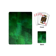 Ombre Green Abstract Forest Playing Cards (mini)  by DanaeStudio