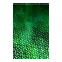 Ombre Green Abstract Forest Shower Curtain 48  X 72  (small)  by DanaeStudio