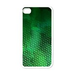 Ombre Green Abstract Forest Apple iPhone 4 Case (White) Front