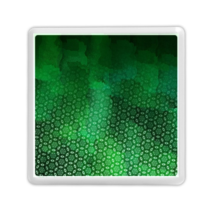 Ombre Green Abstract Forest Memory Card Reader (Square)