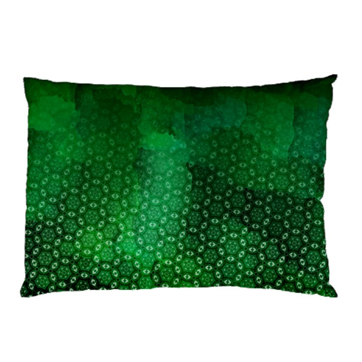 Ombre Green Abstract Forest Pillow Case (Two Sides)